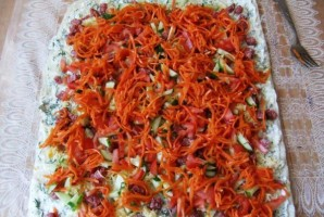 Рулет из лаваша с морковью и сыром - фото шаг 2