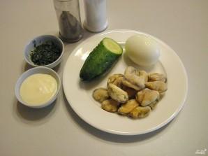 Салат с мидиями - фото шаг 1