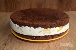 Бисквитный торт с творожным кремом - фото шаг 11