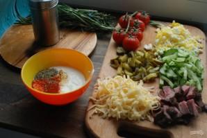 Салат с говядиной и маринованными огурцами - фото шаг 1