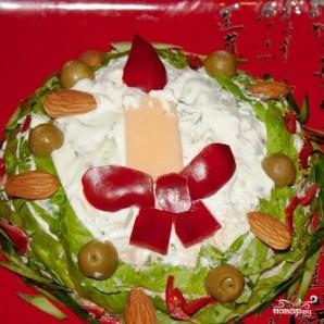 """Салат """"Новогодняя свеча"""" - фото шаг 18"""