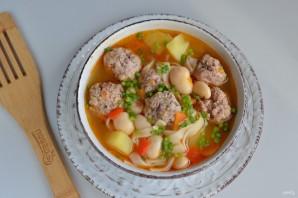 Наваристый суп с фрикадельками и овощами - фото шаг 9