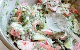 Салат с горошком и курицей - фото шаг 5