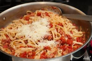 Паста с ветчиной и помидорами - фото шаг 6