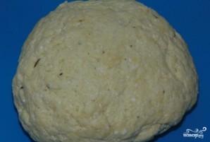 Открытый пирог с мясом и капустой - фото шаг 7