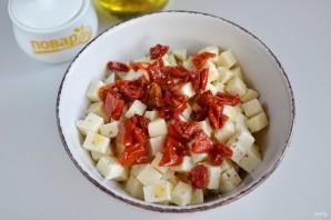 Спиральки из теста с сырно-томатной начинкой - фото шаг 7