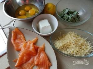 Праздничный закусочный рулет из лосося - фото шаг 1