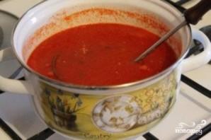 Томатный суп с сухариками - фото шаг 10