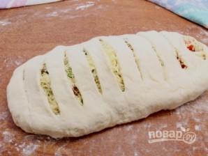 Пирог с адыгейским сыром из слоеного теста - фото шаг 6