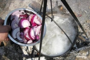 Шурпа из баранины на костре - фото шаг 5
