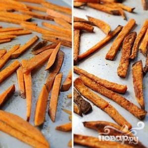 Сладкий картофель-фри - фото шаг 4