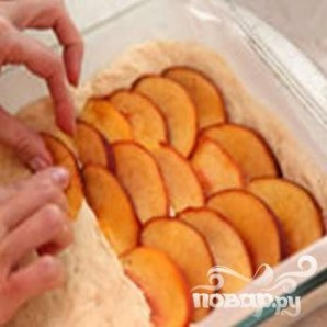 Открытый пирог с персиками - фото шаг 5