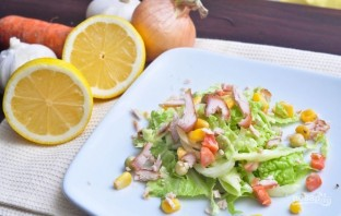 Салат с курицей и пекинской капустой - фото шаг 3