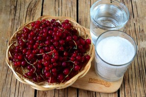 Джем из красной смородины на зиму (быстрый) - фото шаг 1