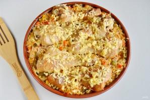 Куриные ножки, запеченные с рисом и овощами - фото шаг 8