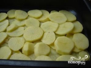 Картофель с грибами в духовке - фото шаг 3