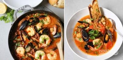 Жаркое с рыбой и морепродуктами в томатном соусе - фото шаг 4
