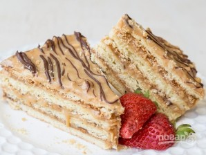 "Торт ""Сникерс"" с арахисом - фото шаг 15"
