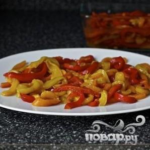 Запеченный болгарский перец с каперсами и Моцареллой - фото шаг 3