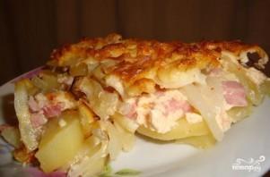 Картофельная запеканка с ветчиной - фото шаг 7