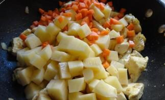Куриное филе с соусом карри и овощами - фото шаг 5
