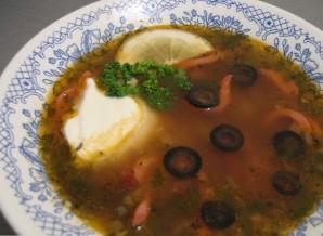 Солянка с сосиской и картошкой - фото шаг 5