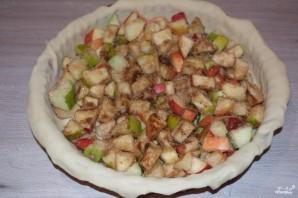 Пирог с яблоками из дрожжевого теста - фото шаг 4