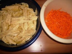 Салат из соевого мяса - фото шаг 2