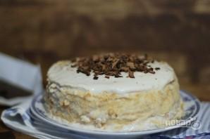 Блинный торт с сыром и бананами - фото шаг 6