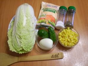 Салат из пекинской капусты с кукурузой - фото шаг 1