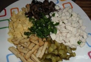 Салат с грибами маринованными - фото шаг 1