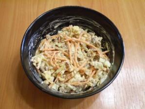 Салат с корейской морковью и печенью - фото шаг 4