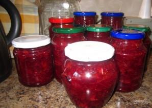 Салат из красной свеклы на зиму - фото шаг 6