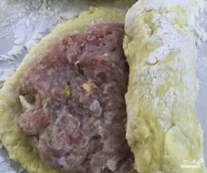 Картофельные трубочки с мясом - фото шаг 3