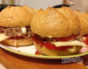 Быстрый гамбургер - фото шаг 9