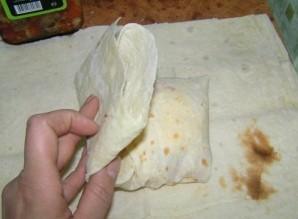 Горячие бутерброды из лаваша - фото шаг 5