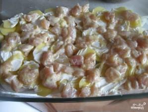 Картофельная запеканка с грудкой - фото шаг 3