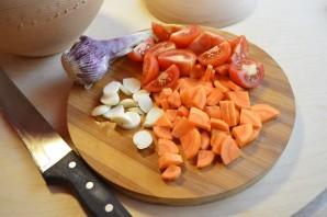 Рагу томленое в глиняном горшочке с фрикадельками из индейки - фото шаг 5
