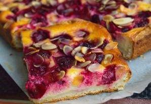 Творожное тесто для пирога с вишней - фото шаг 7