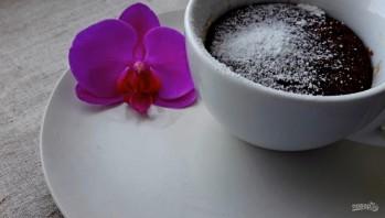 Шоколадный кекс за 3 минуты в микроволновке - фото шаг 4