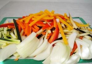 Макароны с овощами - фото шаг 1