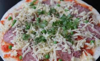 Пицца на скорую руку на лаваше - фото шаг 4
