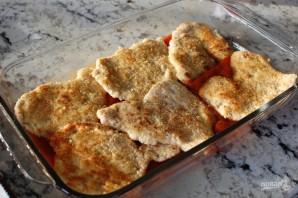 Куриные грудки с сыром в духовке - фото шаг 8