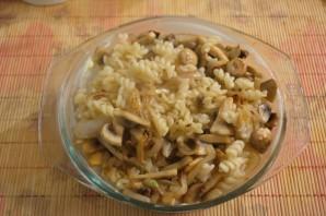 Макароны с грибами в духовке - фото шаг 6