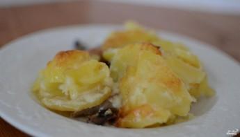 Картофельная запеканка с мясом и грибами  - фото шаг 4