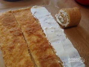 Торт из яблочного рулета - фото шаг 11