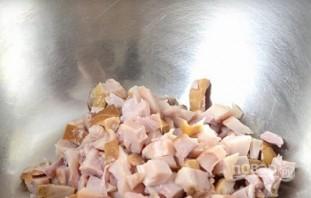 Салат из копченой курицы и ананаса - фото шаг 2