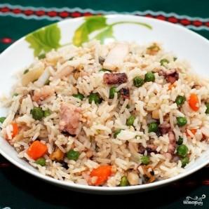 Басмати с овощами и морепродуктами - фото шаг 7