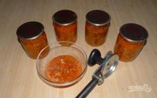 Салат с баклажанами (заготовки на зиму) - фото шаг 8