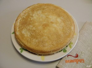 Блинный торт с сыром - фото шаг 6